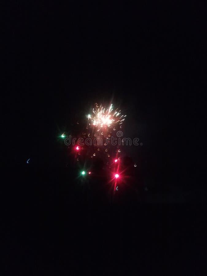 Le meilleur éclairage de nuit comme différent de couleur claire photographie stock libre de droits