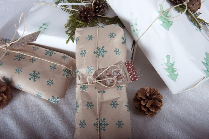 Le meilleur aperçu des cadeaux de Noël images stock