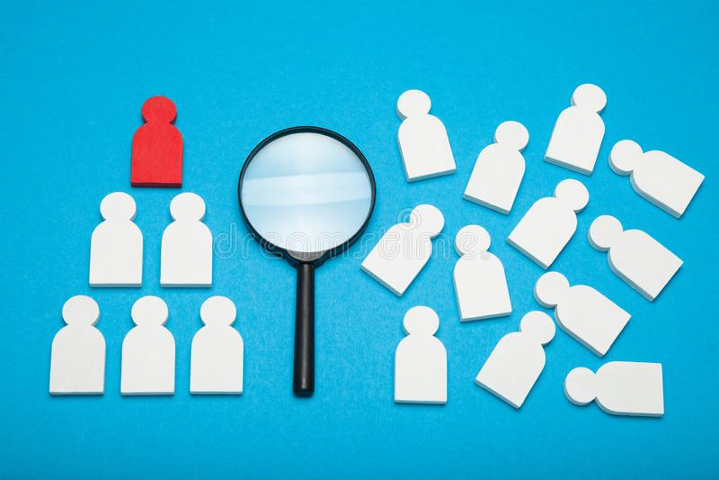 Le meilleur candidat de recrue, bonne droite choisissent Employeur id?al d'affaires images libres de droits