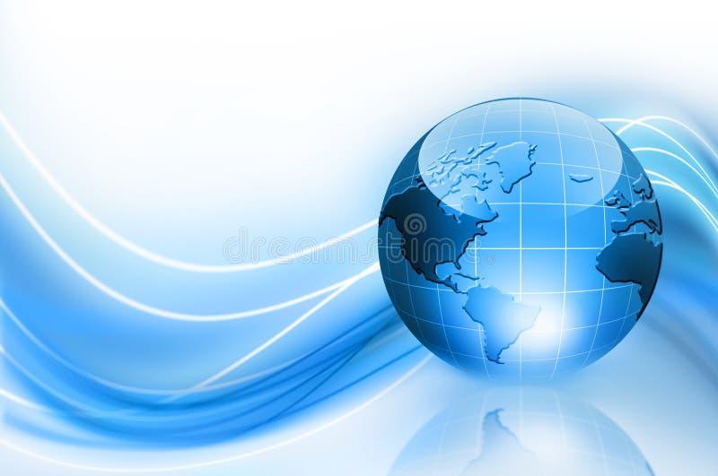 Le meilleur concept d'Internet des affaires globales de concentré illustration stock