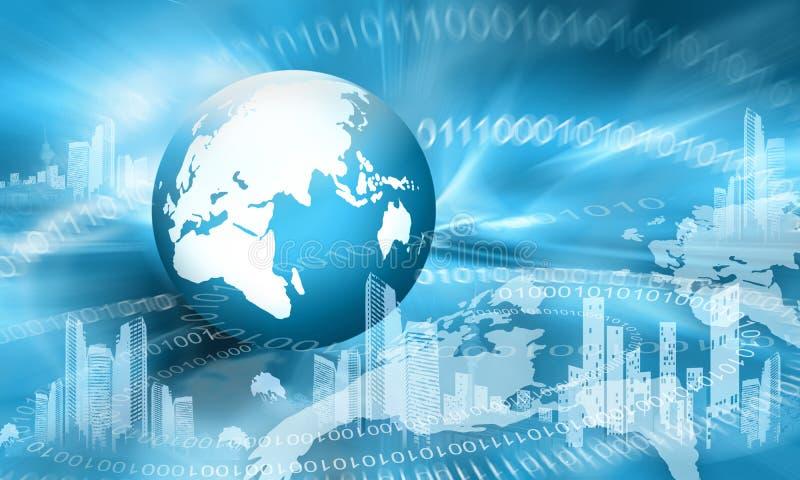 Le meilleur concept d'Internet des affaires globales de concentré illustration de vecteur
