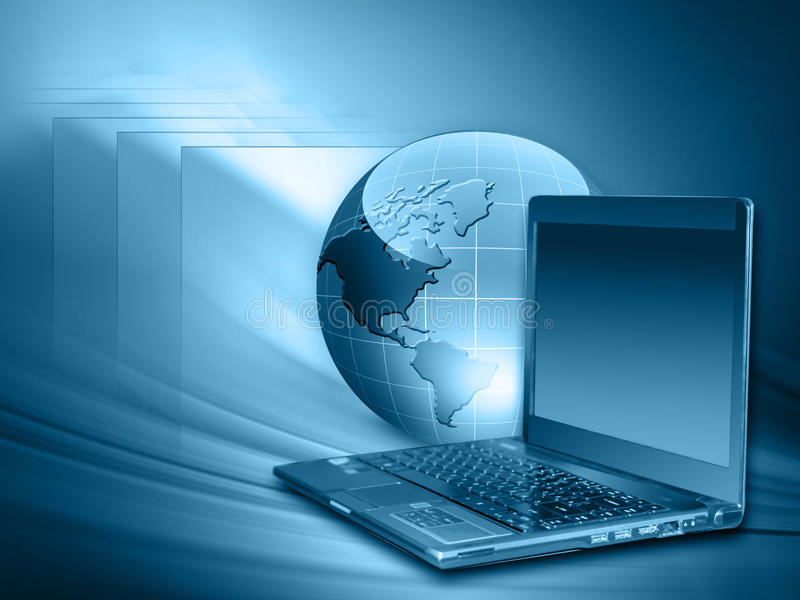 Le meilleur concept d'Internet des affaires globales de concentré photo libre de droits