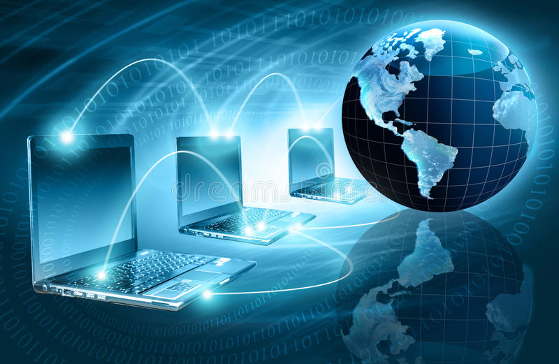 Le meilleur concept d'Internet des affaires globales de concentré illustration libre de droits