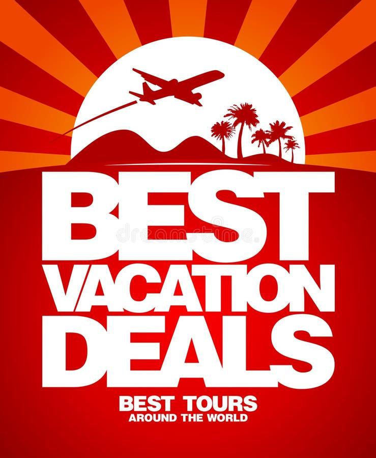 Le meilleur descripteur de conception d'affaires de vacances. illustration stock