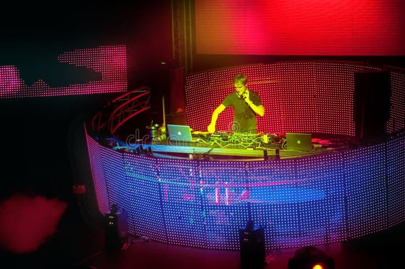 Le meilleur DJ Armin van Buuren Ibiza image stock