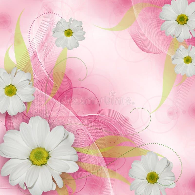 Le meilleur fond romantique de fleur illustration libre de droits
