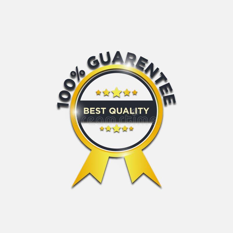 Le meilleur label de vecteur d'or de garantie de qualité illustration libre de droits