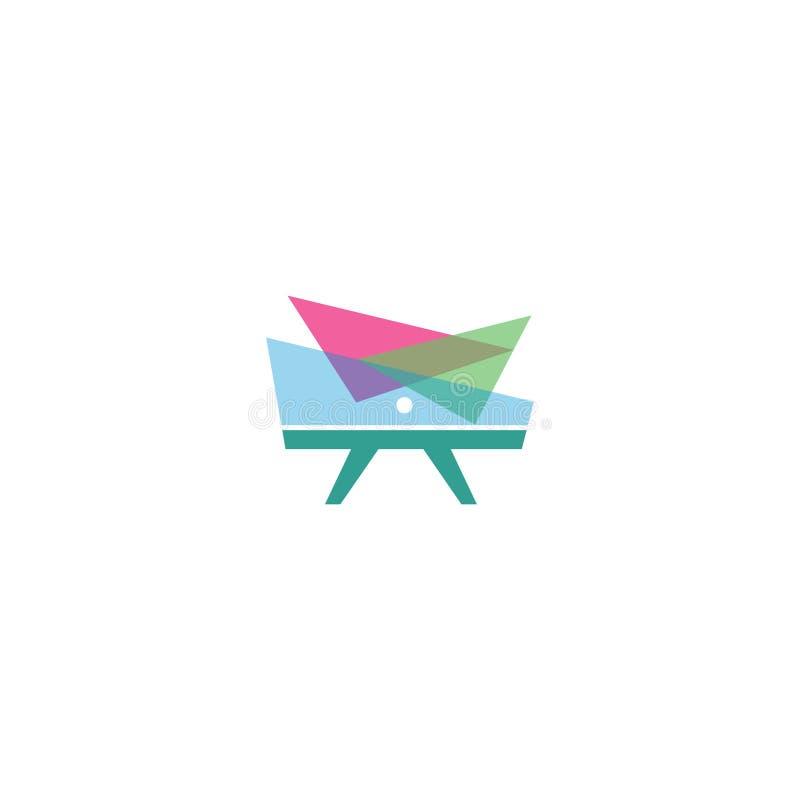 Le meilleur logo moderne coloré simple de meubles et de décor conçoivent illustration stock