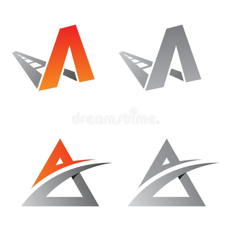Le meilleur logo simple de la lettre A illustration de vecteur