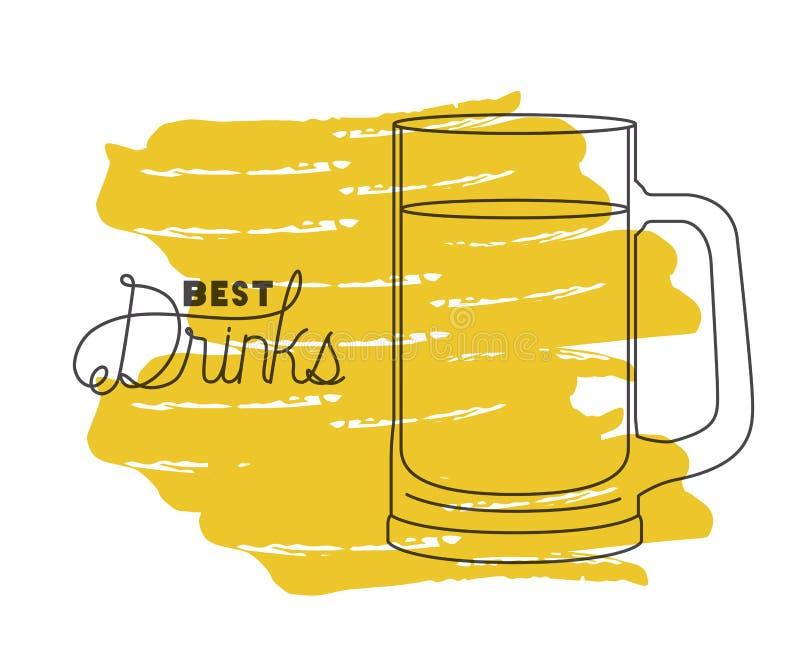 Le meilleur pot de boissons dessiné illustration libre de droits