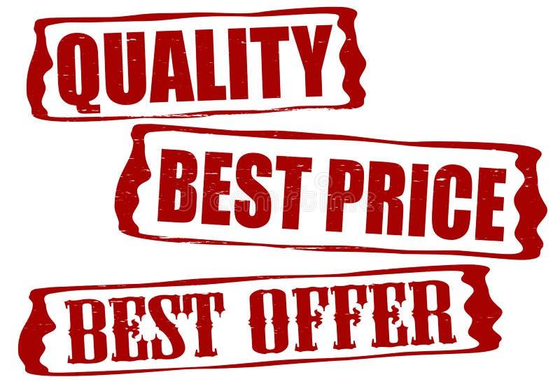 Le meilleur prix de qualité et la meilleure offre illustration de vecteur