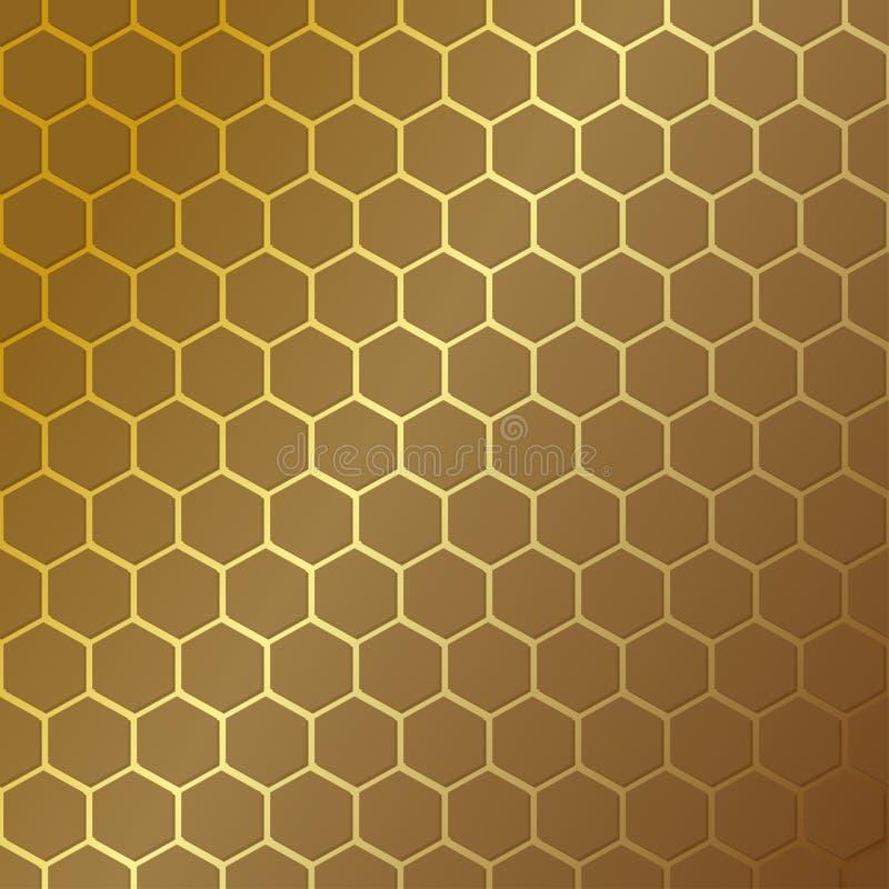 le meilleur repicate généré par ordinateur de configuration de nid d'abeilles sans joint Illustration de vecteur Texture hexagona illustration stock