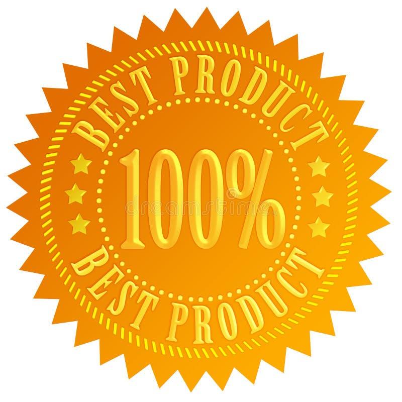 Le Meilleur Sceau De Produit Photo stock
