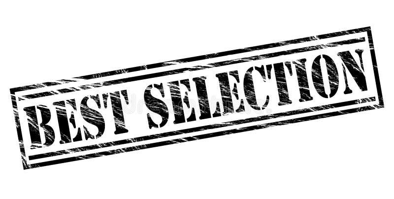Le meilleur timbre de noir de sélection illustration libre de droits