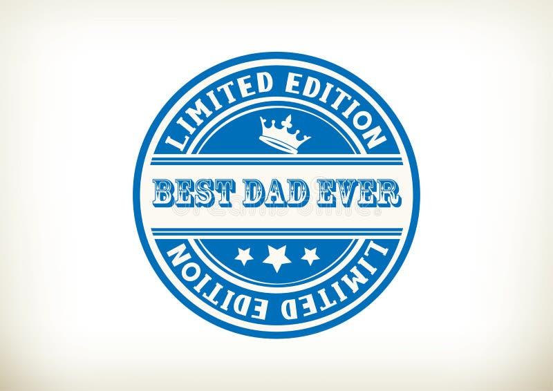 Le meilleur timbre de papa illustration de vecteur
