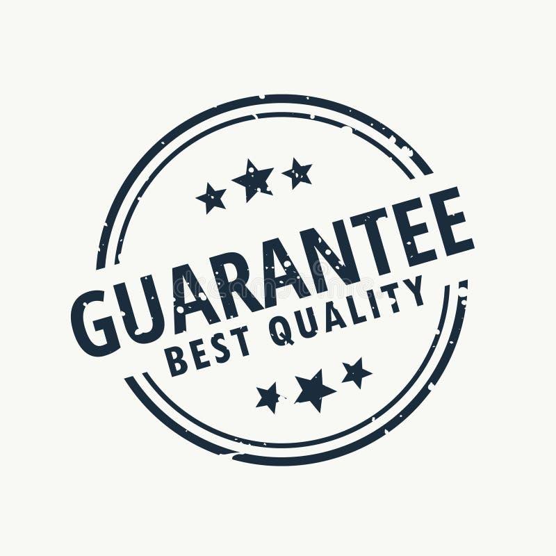 Le meilleur timbre de qualité de garantie illustration libre de droits