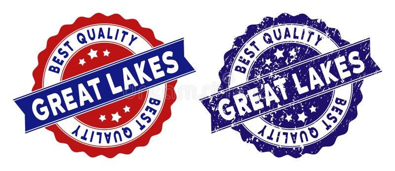 Le meilleur timbre de qualité de Great Lakes avec la texture sale illustration de vecteur