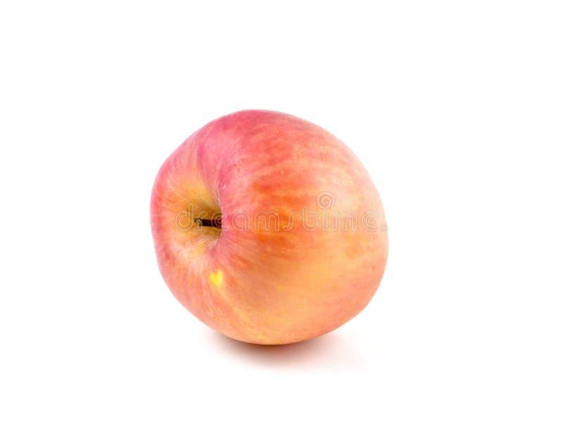 Le mele con in forma di cuore nel fondo bianco, fruttifica aiuto nutriscono il cuore fotografie stock libere da diritti