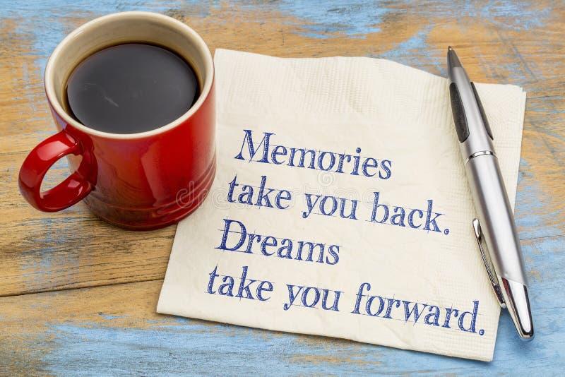 Le memorie vi prendono indietro, sogni fotografie stock libere da diritti