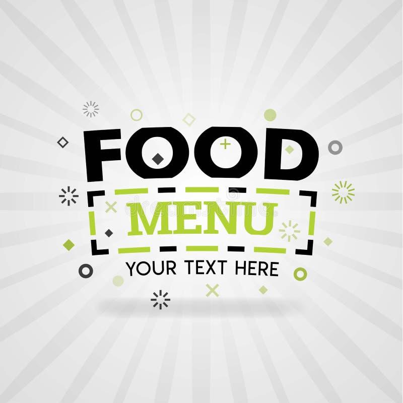 Le menu de nourriture couvre des bannières pour les restaurants cuits à la maison de dîner et l'industrie culinaire illustration libre de droits