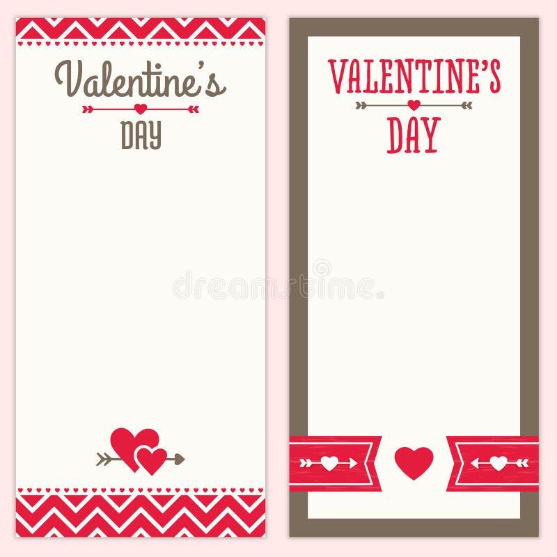 Le menu ou l'invitation de jour de valentines conçoit en rouge a illustration libre de droits