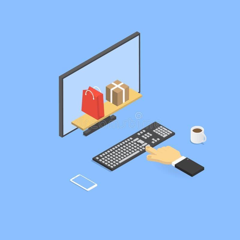 Le merci online dell'acquisto online immagazzinano royalty illustrazione gratis