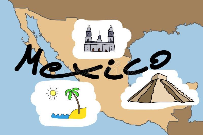Le Mexique illustration libre de droits
