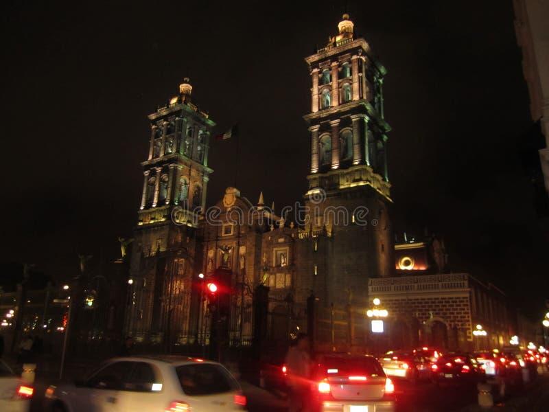 Le Mexique, centre de ville de Puebla photos libres de droits