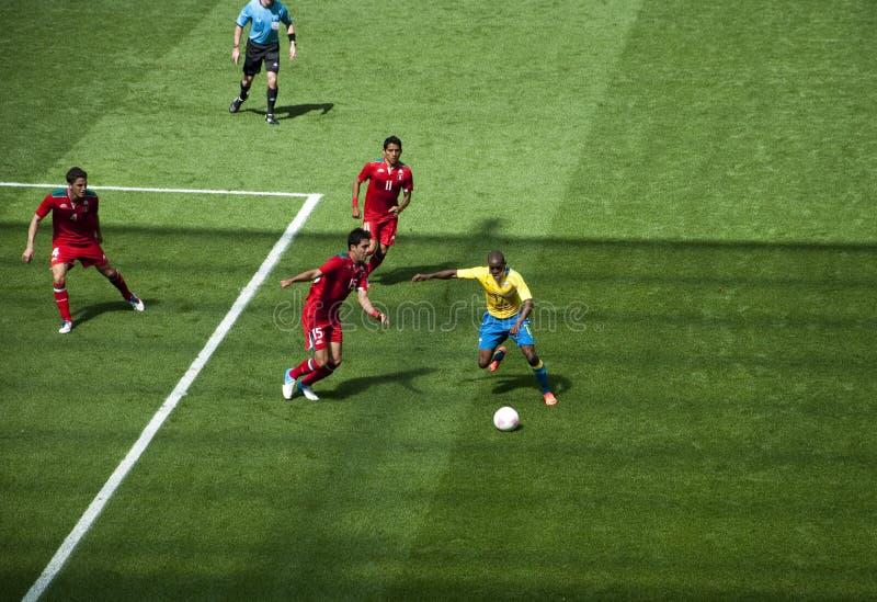 Le Mexique contre le Gabon dans les Jeux Olympiques 2012 de Londres images stock