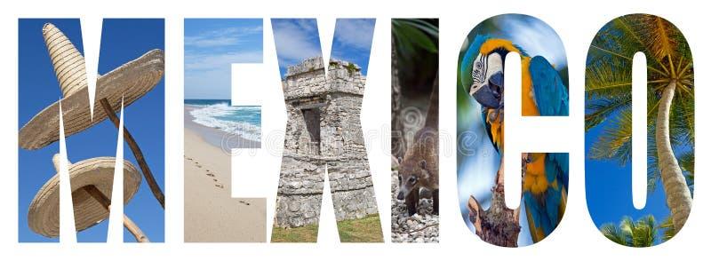 Le Mexique marque avec des lettres le concept photo stock
