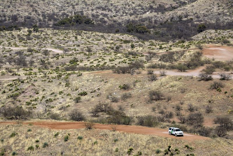 Le Mexique - Nogales - la patrouille de frontière des Etats-Unis image stock