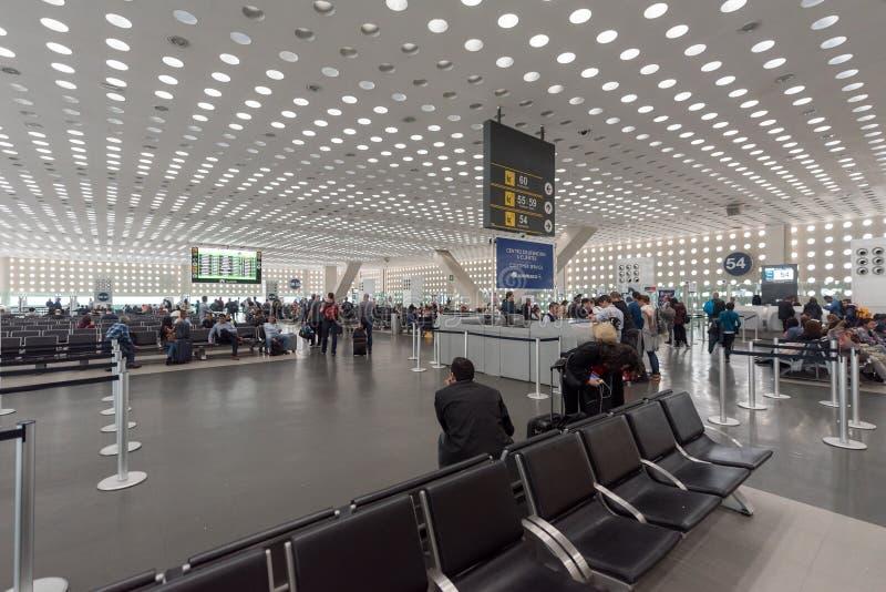 LE MEXIQUE - 19 OCTOBRE 2017 : Aéroport international de Mexico Benito Juarez Airport Région de départ images libres de droits