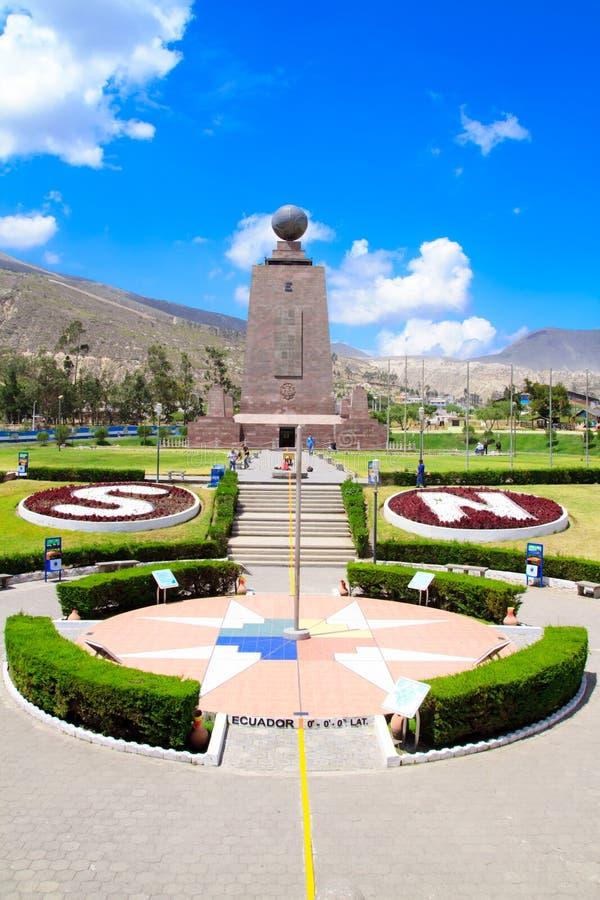 Le milieu du monde, Equateur. image stock