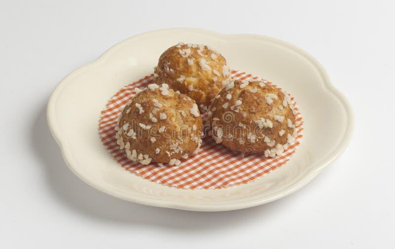 Le mini petit pain de pâtisserie, roulent le dessert doux de nourriture photos libres de droits