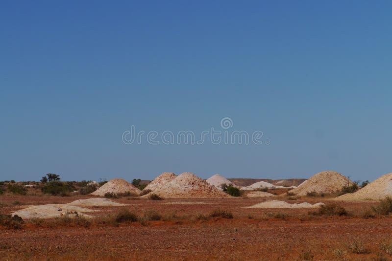 Le miniere dell'opale in Coober Pedy immagini stock