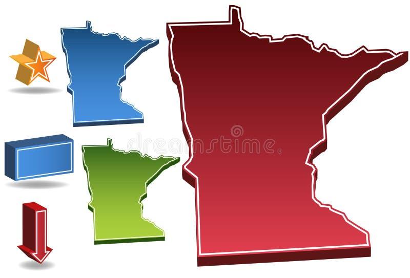 Le Minnesota 3D illustration libre de droits
