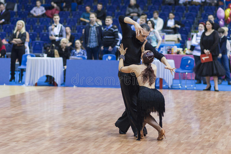 Le Minsk-Belarus, février, 23 : Seleznev Andrey-Inna Selezneva photo stock
