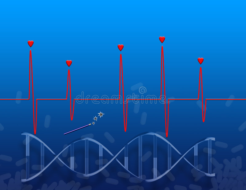 Le miracle génétique illustration de vecteur
