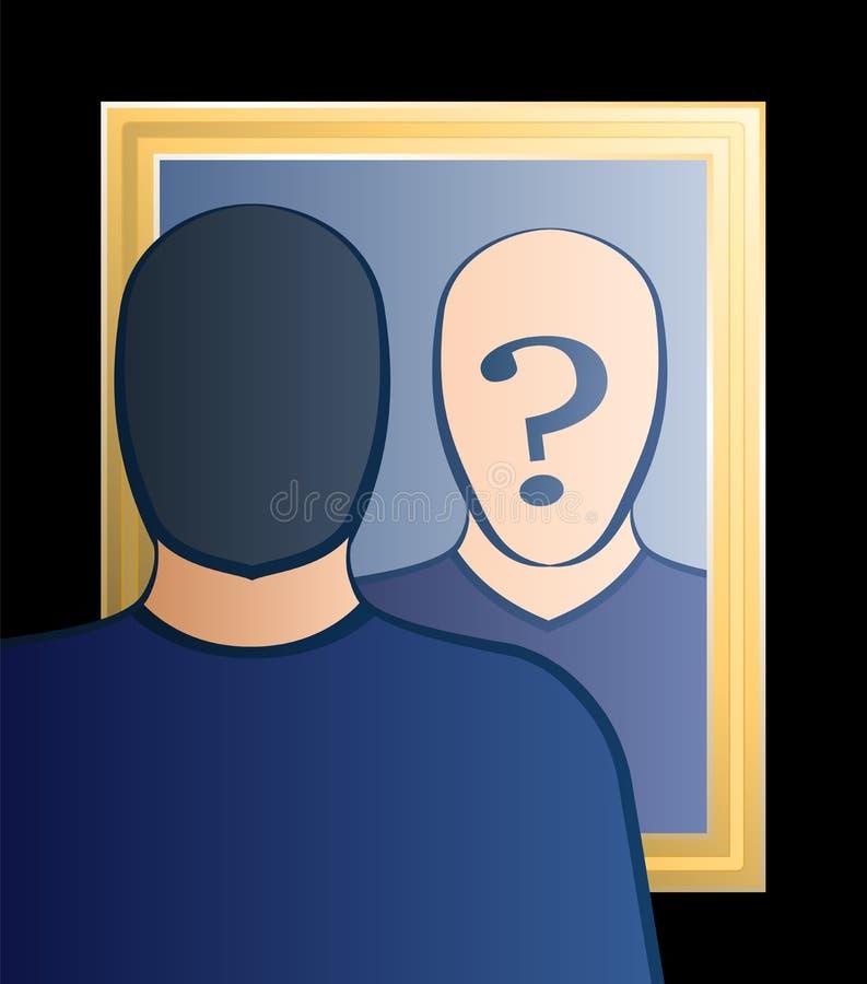 Le miroir qui suis moi équipent illustration stock