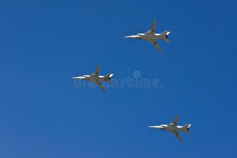 Le missile-bombardier supersonique avec l'aile de géométrie variable du Tu-22M3 photo libre de droits