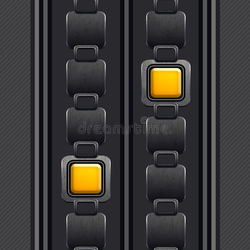 Le mod?le ?l?gant et ornemental, places argent?es en jaune, a barr? Grey Background illustration stock