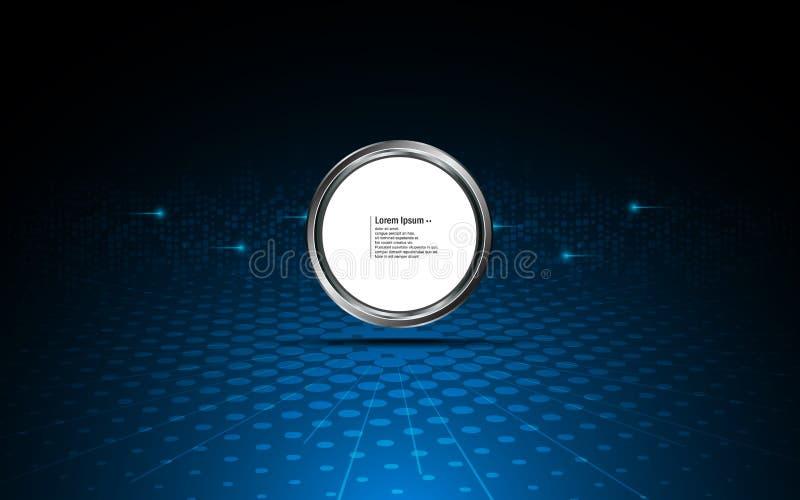 Le modèle abstrait de calibre de logo de fond et de bouton de cercle conçoivent illustration stock