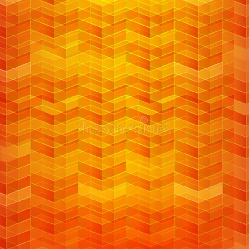 Le modèle abstrait orange de la géométrie de fond a posé l'illus de vecteur illustration stock