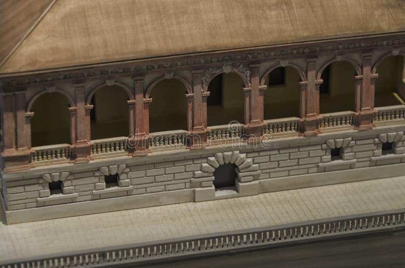 Le modèle d'échelle du dei Vescovi de villa photos libres de droits