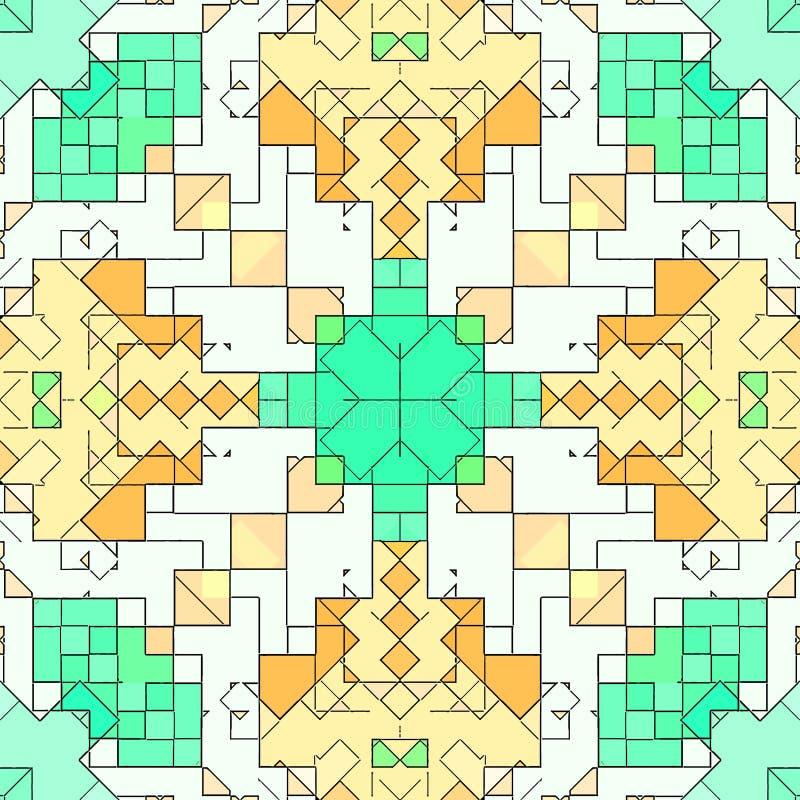Le modèle de fond d'abrégé sur mosaïque a souillé, conception géométrique illustration de vecteur