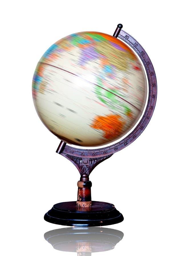 Le modèle de globe tourne image stock