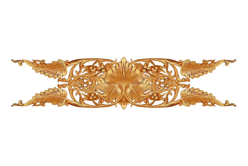 Le modèle de la fleur a découpé sur le bois pour la décoration images stock