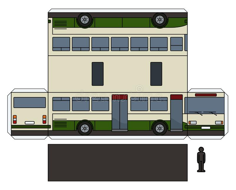 Le modèle de papier d'un autobus illustration libre de droits
