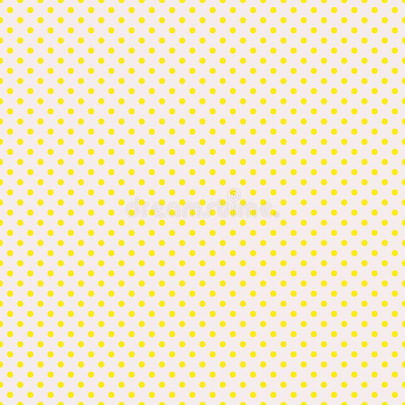 Le modèle de point de polka Illustration sans couture de vecteur avec les cercles ronds, points Jaune et beige illustration de vecteur