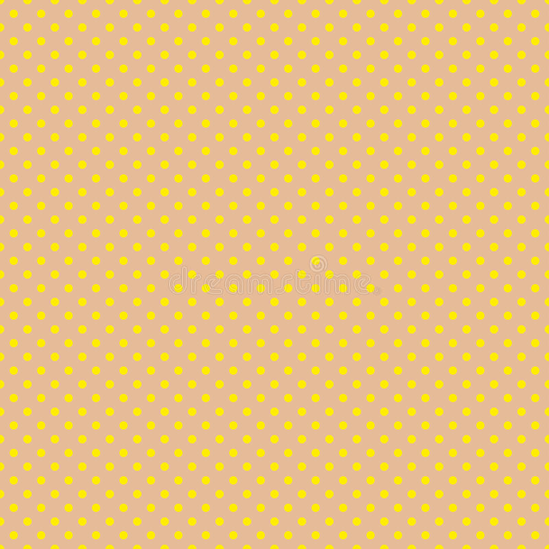 Le modèle de point de polka Illustration sans couture de vecteur avec les cercles ronds, points Jaune et brun illustration stock
